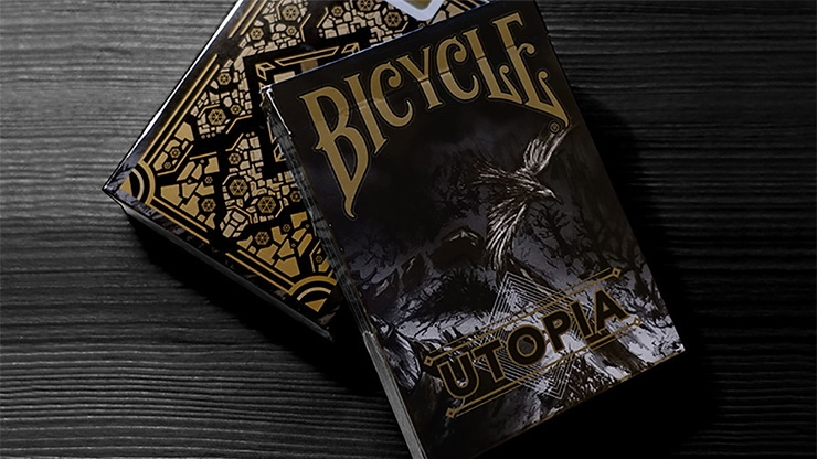 Колода Bicycle Utopia Black Gold картинка