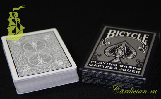 Карты Bicycle White And Silver картинка