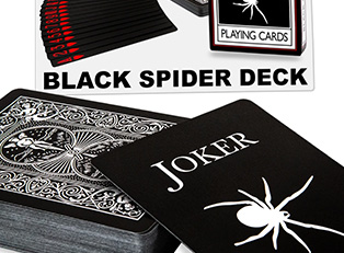Bicycle Black Spider Deck купить