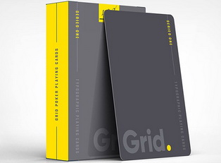 Колода Grid Typographic Playing Cards купить