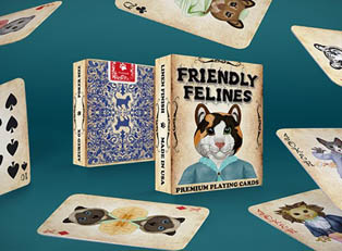 Колода Friendly Feline Playing Cards купить
