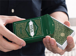 Колода Visa Playing Cards (Green) купить